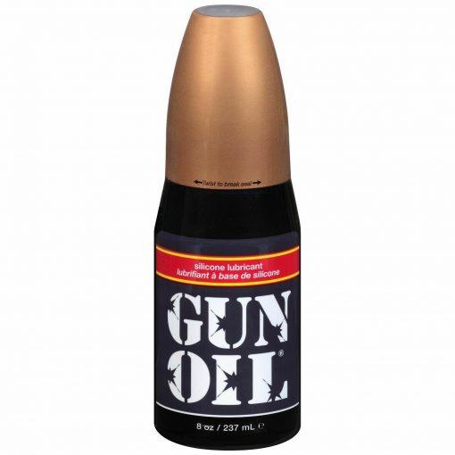 8 oz Gun Oil Silicone Lubricant Popper